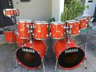 HUGE 1980's YAMAHA TOUR CUSTOM DOUBLE BASS DRUM SET W MATCHING SNARE. ONE OWNER