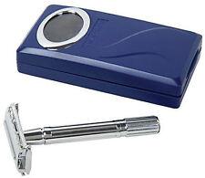Shaving Factory Double Edge Safety Razor + Travel Case