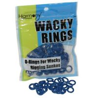 "BRUISER BLUE O-Rings For Wacky Rigging Senko Worms (100 pcs - 4&5"" Senko)"