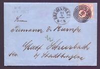 Thurn+Taxis - Schöner Brief mit 2Sgr. MiNr.16 aus Bremen - Michel 150,00 € (567)