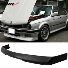 84-92 BMW E30 3-Series RG Style Front Bumper Lip Spoiler Black - Poly Urethane