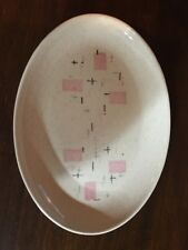 "Metlox Vernon Ware ""Tickled Pink"" 11"" Oval Serving Platter"