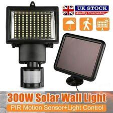 UK 100LED Solar Power PIR Motion Sensor Wall Security Light Lamp Outdoor Garden~