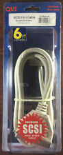 NEW QVS 6ft SCSI II to SCSI I Double Shielded Cable CC394D-06 - Free Shipping!
