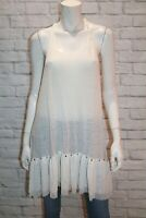 FLANNEL Brand BOHO White Mesh Lace Hem Detail Dress Size S/M LIKE NEW #AN02