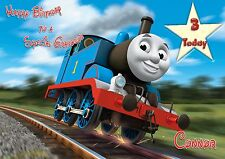 Personalised Birthday Card Thomas The Tank Any Age Son Grandson Daughter E
