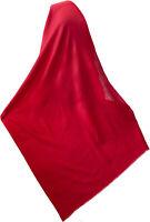 "Plain Wool Jamavar Shawl  Ruby Red India Jamawar Stole Wrap 80""x28"" Self Fringe"