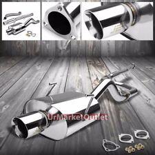 """3.50"""" Slant Muffler Tip Exhaust Catback Kit For Acura 94-01 Integra 97-01 Type-R"""