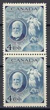 Canada 1947 Sc# 274 Alexander Graham Bell globe Map pair MNH