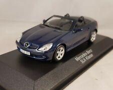Minichamps 1:43 Mercedes Benz SLK-Klasse Cabrio benetoitblau