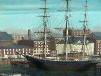 BRUCE VON STETINA'S BOSTON HARBOR ORIGINAL OIL ON CANVAS,SIGNED 30 X 40