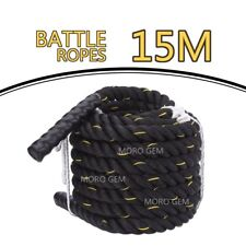 15m Battle Rope Power Strength Exercise Fitness Bootcamp Core Body Gym Bootcamp