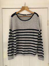 Mint Velvet beautiful soft stripe jumper Size 18 with soft Alpaca wool