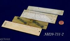 old antique engineer drafting drawing architect Rule Ruler Tool Lot