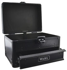 Wahl Black Lockable Metal Tool Box Storage Travel Carry Case For Barbers