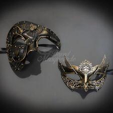 BeyondMasquerade Couples Masquerade Mask, Gold Steampunk Masquerade Ball mask