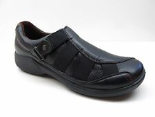 Romika Black Pebbled Leather Wedge Heel Loafers Shoes 37 6M 6 NEW MSRP $159