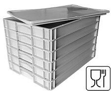6x Pizzateigbehälter + 1x Deckel gratis  Pizzaballenbox Teigbehälter 60x40x12cm