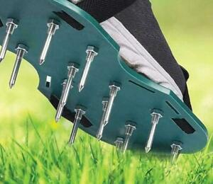 Garden Lawn Aerator Aerating Spike Adjustable Sandals Shoes 13 x 5cm Spikes
