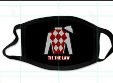TIZ THE LAW FACE MASK HORSE RACING TRIPLE CROWN KENTUCKY DERBY PRE-SALE NEW MINT