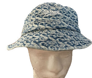 SUPREME MONOGRAM CRUSHER HAT/ BLUE SIZE S/M FW21 WEEK 8 (AUTHENTIC) BRAND NEW