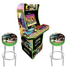Arcade 1up Teenage Mutant Ninja Turtles Cabinet Arcade1up 2 Stools Riser 2 Games