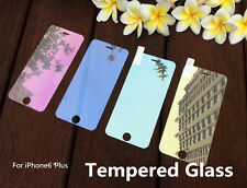Colored Tempered Glass Reflective Mirror Screen Protector For iPhone 6S Plus 5.5