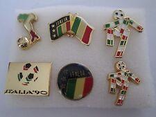 b3 lotto 6 spille ITALIA 1990 FIFA WORLD CUP football calcio pins lot 90