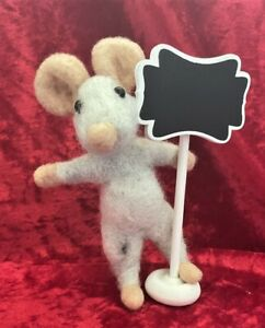 Needle Felted Sign Mouse