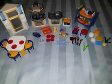 PLAYMOBIL 3968 Kitchen Blue/Orange,Sink, Stove, Dishes and so much more