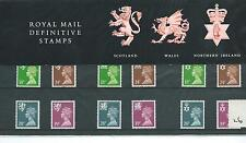 GB - PRESENTATION PACK - PACK NO 26 - MACHIN DEFINITIVES - REGIONALS -  to 39p