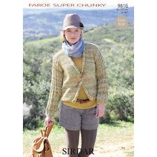 Sirdar Womens Knitting Pattern - 9816 - Jacket - Faroe Chunky