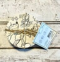 Disney Mickey Mouse Minnie Set Of 4 COASTERS Sketchbook 90 year Anniversary HTF!