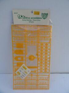 IHC #4407 HO Scale CARNIVAL Safety Railings-Ticket Office Kit New Bin 37