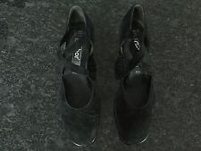 Gabor Ladies Black Suede Shoes Size 5 / 1/2. Great Condition.