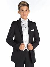Boys Wedding Suit, Black Prom Suit, Page Boy Outfit, Boys Slim Fit Suit