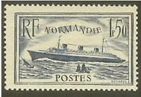 """FRANCE STAMP TIMBRE N° 299 """" PAQUEBOT NORMANDIE 1F50 BLEU """" NEUF xx LUXE"""