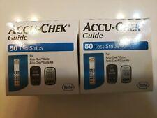 Accu-Chek Guide diabetic glucose Test Strips 100 total ( 2 boxes@50 each) 10/21+
