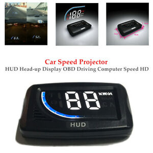 Car HUD Head-up Display OBD Driving Computer Speed HD Speed Projector Durable
