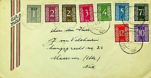 INDONESIA NUMERALS 9v ON AIRMAIL COVER TO NEDERLAND