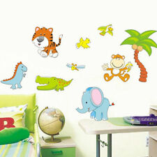 large animals jungle zoo wall sticker decal children/kids room mural gift toy
