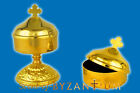 Orthodox Metal Incense Storage Box Cross in the Top  Free Incense Weihrauch