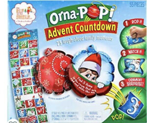Elf On The Shelf Advent Countdown Orna-Pop NEW in Box Ornaments Calendar