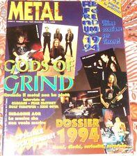 METAL SHOCK 182 Napalm Death Carcass Megadeth Pantera Nirvana Bolt Thrower