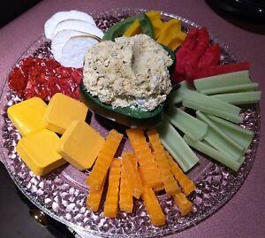 MEAT, CHEESE, VEGGIE DIP TRAY, CELERY, CARROTS, PEPPERS, HANDMADE FAKE FOOD PROP