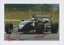 Bruno Senna and Viviane Senna Hand Signed Photo 12x8 1.