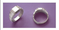 Blank Ring Shank in Solid Sterling Silver Size 9.5