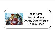 30 Avengers Personalized Address Labels