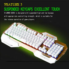 X600S Pro Illuminated LED Backlight USB Wired Multimedia Gaming Keyboard For Mac