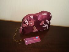 """Make-Up Bags """"Boots""""Oriental Bloom  Cosmetic Purse Burgundy Color  New With Tags"""